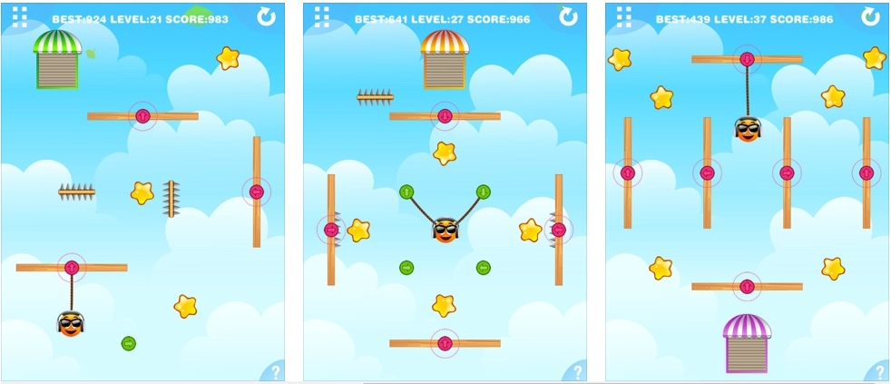 [iPhone/iPad限免] 重力橙子2 : 橙子的物理益智游戏