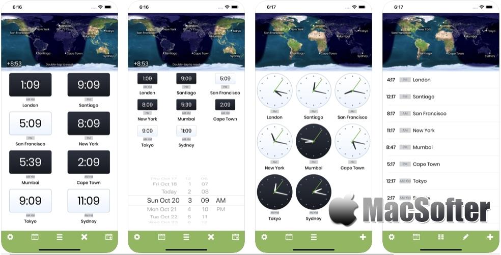 [iPhone/iPad限免] World Clock X : 实用的世界时钟软件