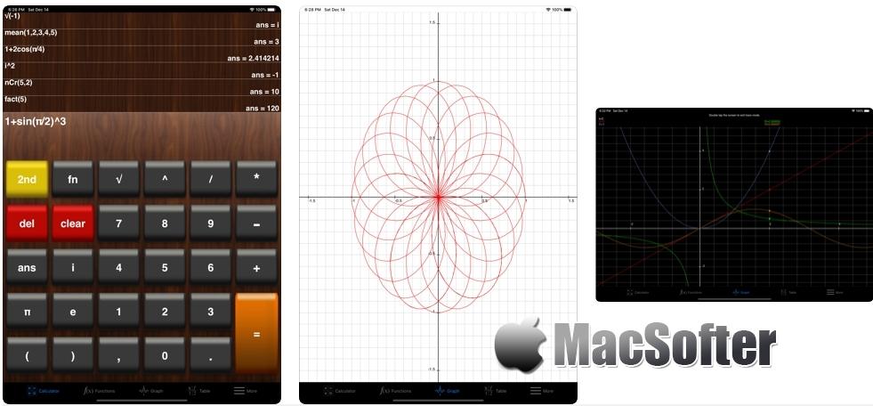 [iPhone/iPad限免] My Graphing Calculator(图形计算器) :自带函数绘图功能的科学计算器