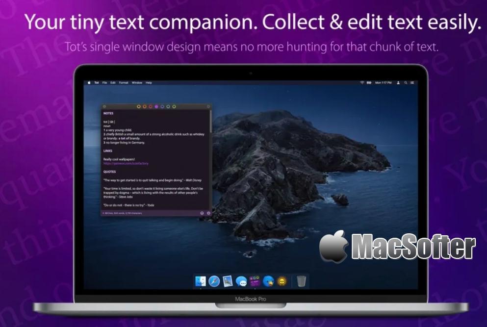 [Mac] Tot : 简单小巧的笔记软件 Mac办公软件 第1张