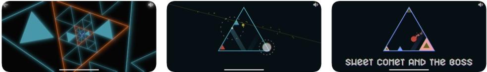 [iPhone/iPad限免] Trigono : 重力反应游戏