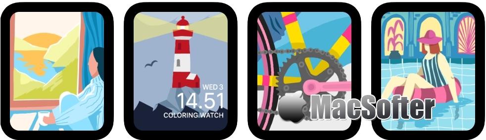 [iPhone限免] Coloring Watch : 为Apple Watch设计的着色软件