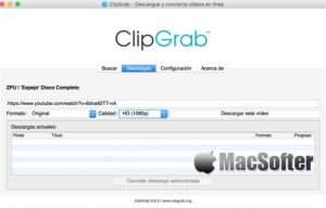 ClipGrab for Mac : 免费的在线视频下载工具