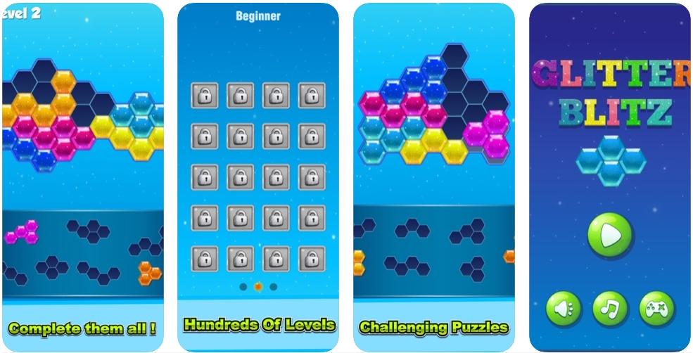[iPhone/iPad限免] Glitter Blitz: 闪亮风采的益智组合游戏