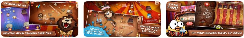 [iPhone/iPad限免] Drop The Chicken 2 The Circus : 耐玩的益智动作游戏
