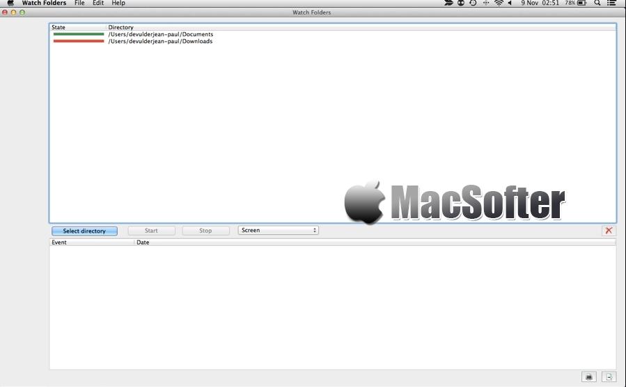 [Mac] Watch Folders : 文件夹内容变化监控工具