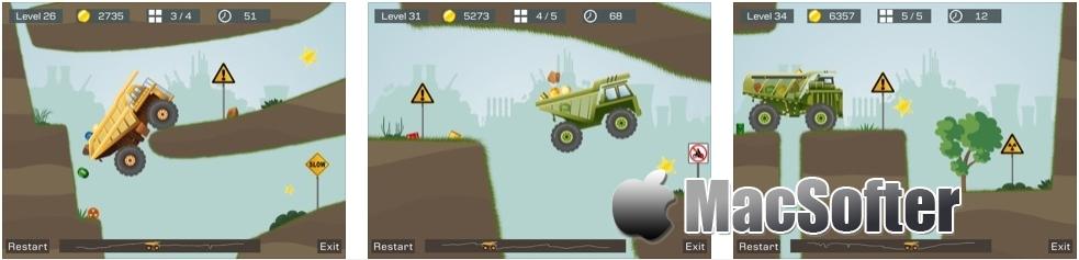[iPhone/iPad限免] 狂野重卡 : 逼真的矿车运输模拟竞速游戏 iOS限免 第2张