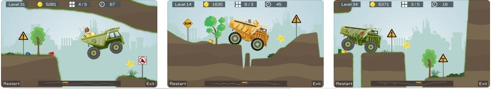 [iPhone/iPad限免] 狂野重卡 : 逼真的矿车运输模拟竞速游戏