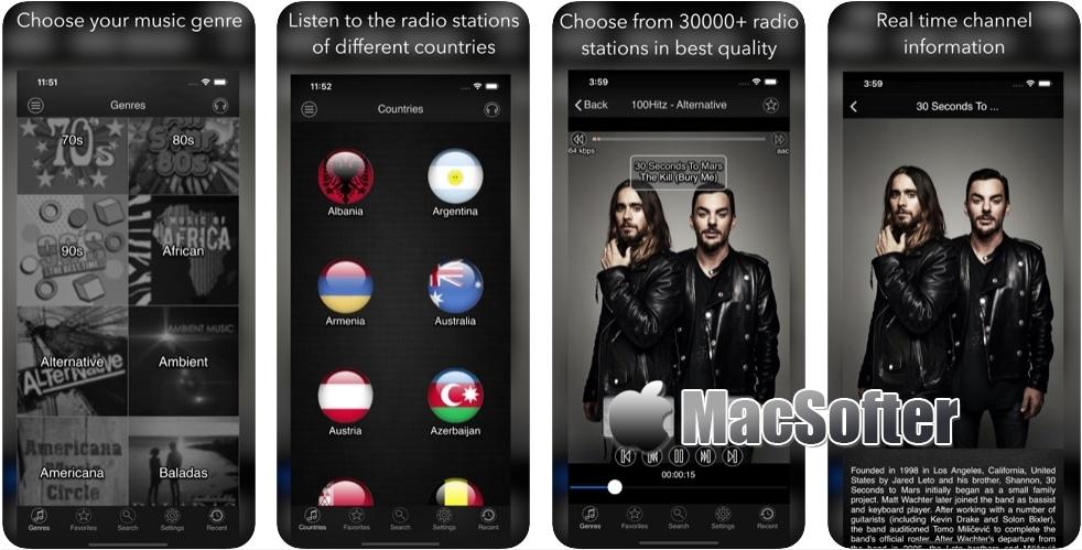 [iPhone/iPad限免] air radio tune : 世界各地网络电台收听软件
