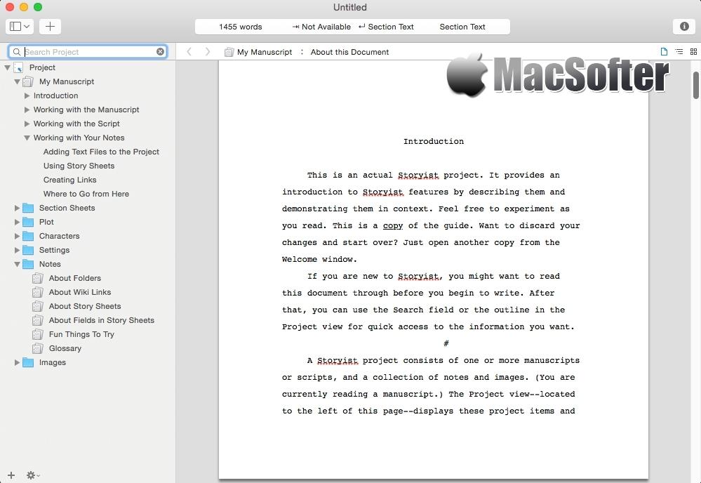 [Mac] Storyist : 高效的写作软件 Mac办公软件 第1张