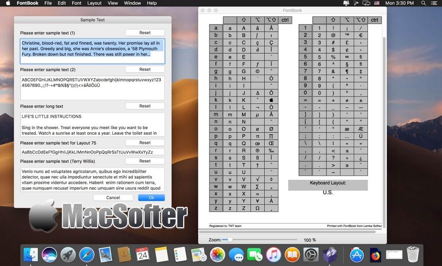 [Mac] FontBook :好用的字体管理工具