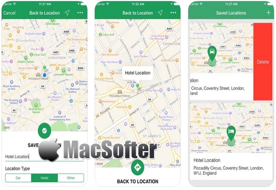 [iPhone限免] Map me home : 保存当前位置的软件