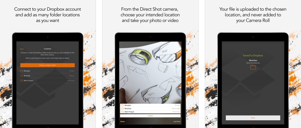 [iPhone/iPad限免] Direct Shot for Dropbox : 拍照并自动上传到Dropbox云存储空间