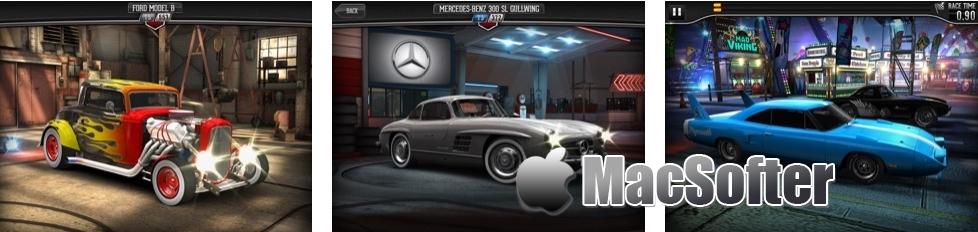 [iPhone/iPad限免] CSR Classics : 经典古董车赛车游戏