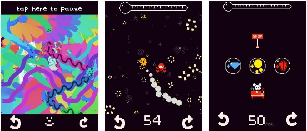[iPhone/iPad限免] Fish Fly Fever :像素画风音乐休闲游戏