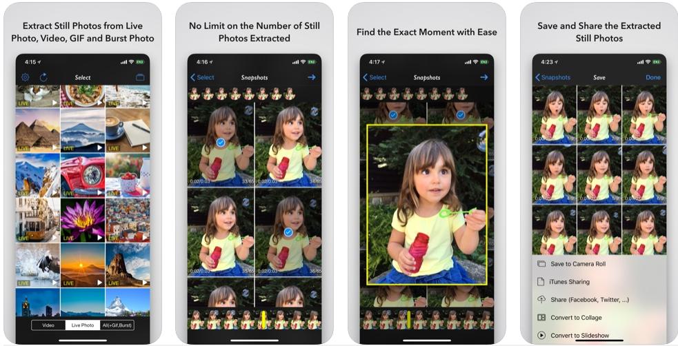 [iPhone/iPad限免] Photo Extractor : 从动态照片或视频中提取静态照片 iOS限免 第2张