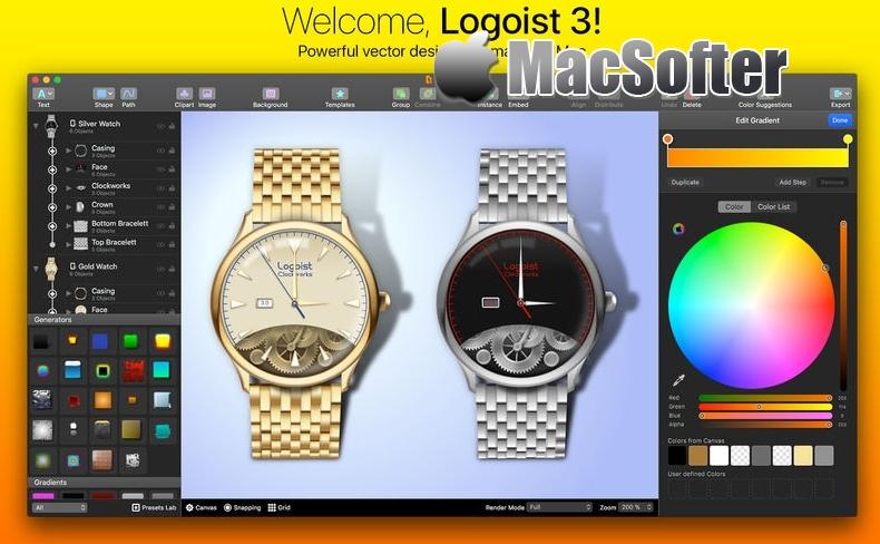[Mac] Logoist : 好用的矢量图设计工具 Mac图像图形 第1张