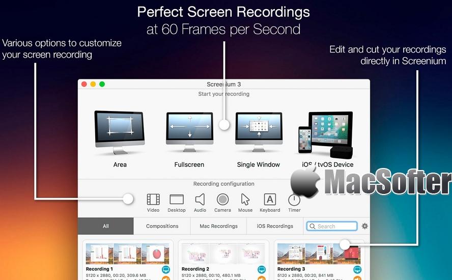 [Mac] Screenium : 好用的屏幕录像软件