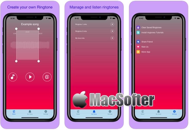 [iPhone/iPad限免] Ringtones Maker Pro : 手机铃声制作工具 iOS限免 第1张