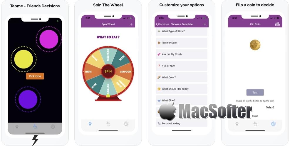 [iPhone/iPad限免] Tapme :帮助选择困难症的作决定工具 iOS限免 第1张