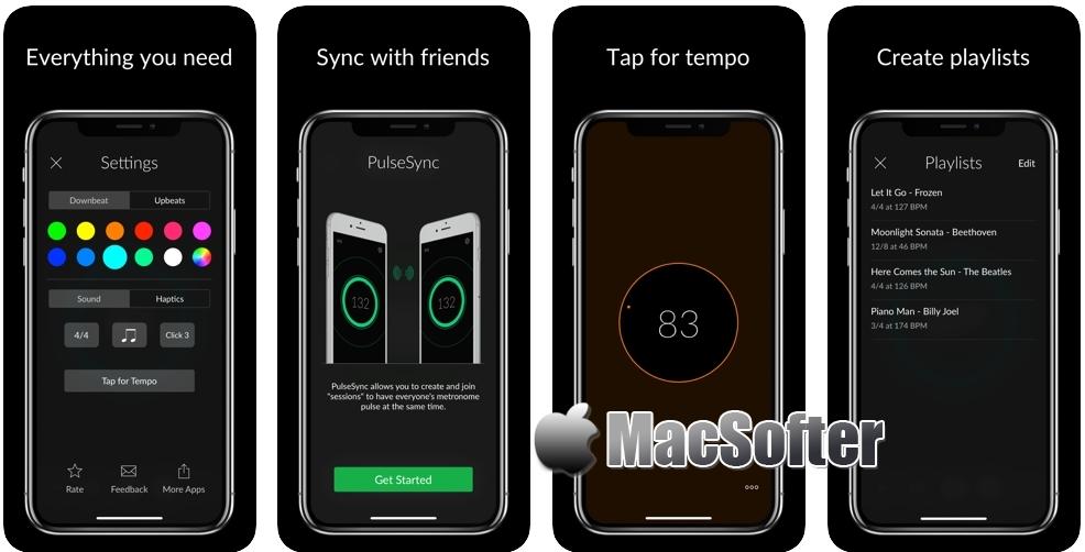 [iPhone/iPad限免] Pulse : 简洁的节拍器软件 iOS限免 第1张