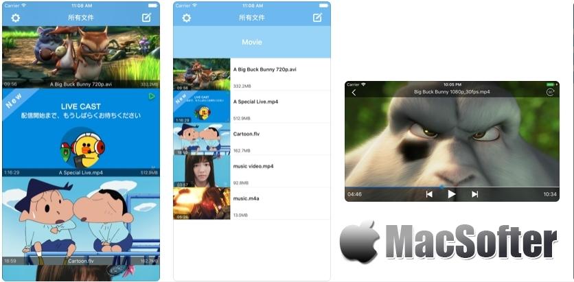 [iPhone/iPad限免] Swifter Player : 万能视频播放器 iOS限免 第1张