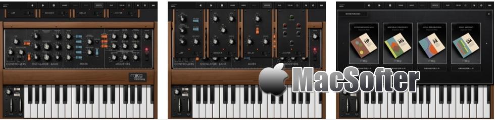 [iPhone/iPad限免] Minimoog Model D Synthesizer : 强大的声音合成器