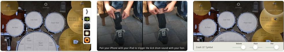 [iPhone/iPad限免] DrumKick :立体声打击乐器软件