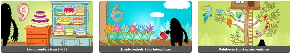[iPhone/iPad限免] The Lonely Beast 123 :儿童英文数学互动学习软件