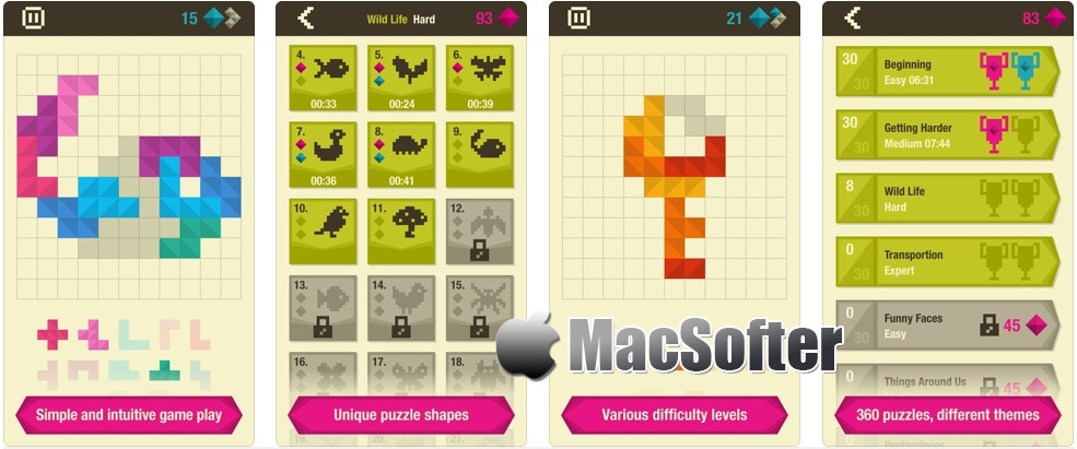 [iPhone/iPad限免] Formino : 益智拼图游戏 iOS限免 第1张