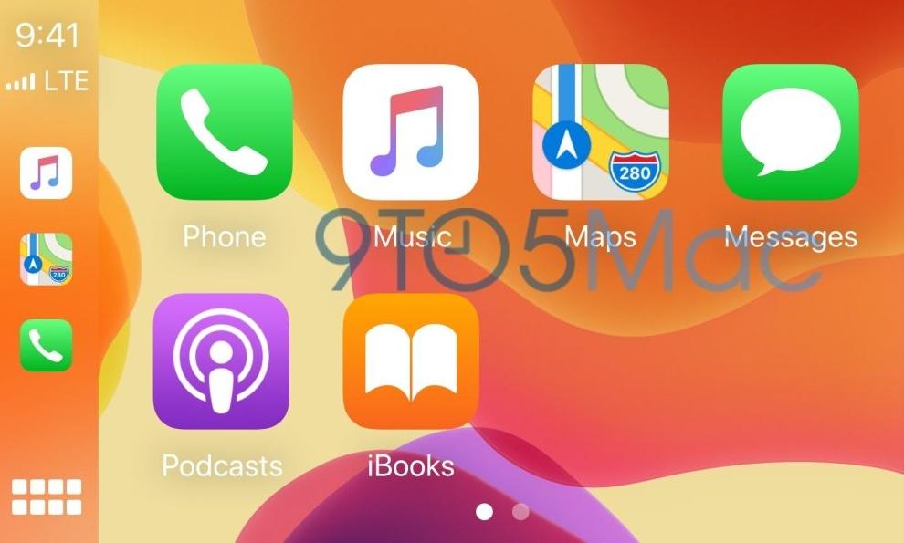 iOS 14 CarPlay车载系统可更换桌面壁纸和切换深色模式 苹果新闻 第2张
