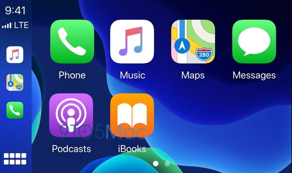 iOS 14 CarPlay车载系统可更换桌面壁纸和切换深色模式