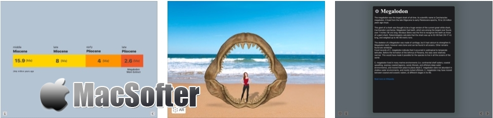 [iPhone/iPad限免] Megalodon : 了解鲨鱼的AR应用程序