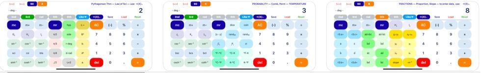 [iPhone/iPad限免] SciPro Math :强大的多功能科学计算机