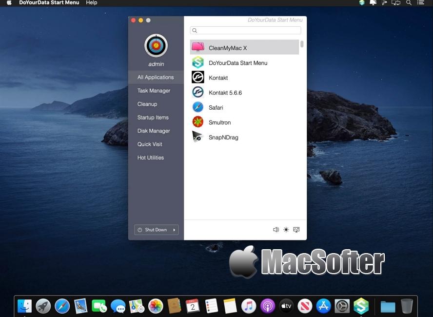 [Mac] DoYourData Start Menu : 快速启动及快速设置工具