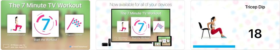 [iPhone/iPad限免] 7 Minute TV Workout : 每天7分钟健身教学软件