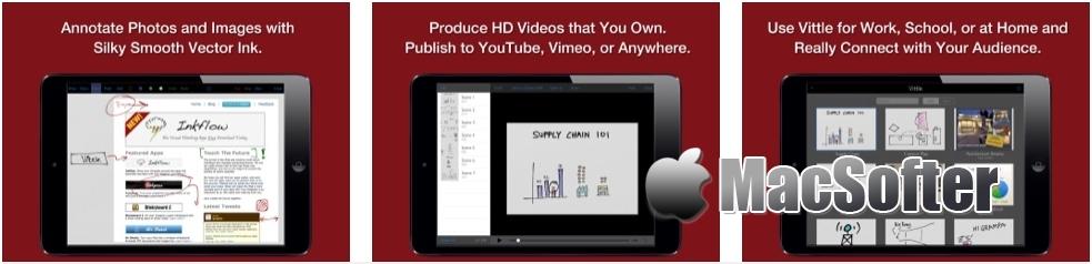 [iPad限免] Vittle :支持屏幕录像的智能白板工具 iOS限免 第2张