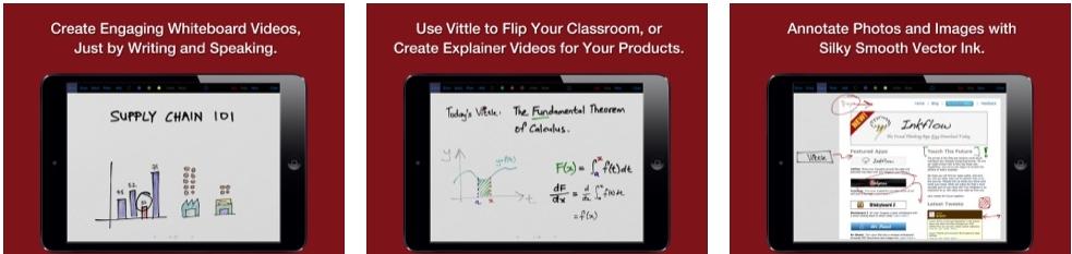 [iPad限免] Vittle :支持屏幕录像的智能白板工具