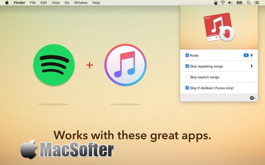 [Mac] Denied : 音乐自动跳过工具 Mac音乐播放 第1张
