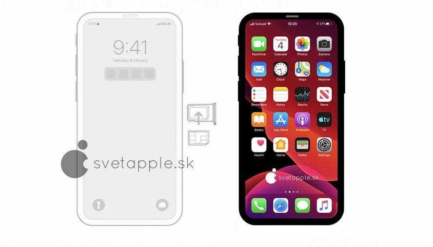 iOS 14内部资料:iPhone 12 示意图解析如何拿走刘海