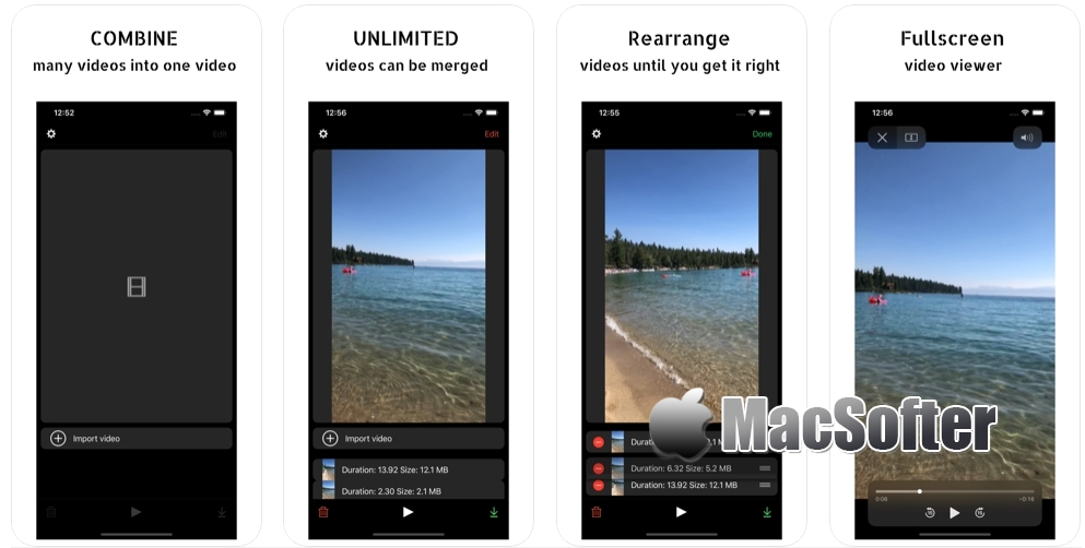 [iPhone/iPad限免] Merge Videos - Compilation : 视频合并编辑器