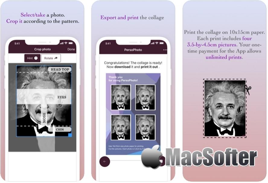 [iPhone/iPad限免] PersoPhoto : 证件照制作工具