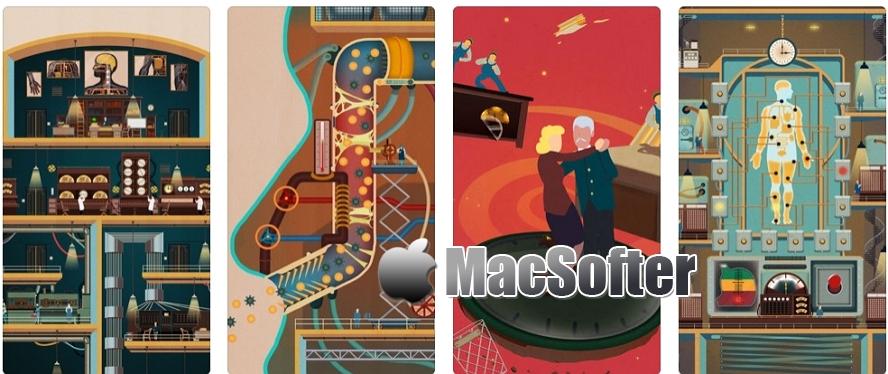 [iPhone/iPad限免] Homo Machina :机械化的风格的人体构造科普游戏