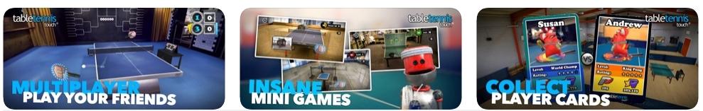 [iPhone/iPad限免] Table Tennis Touch : 虚拟乒乓球游戏