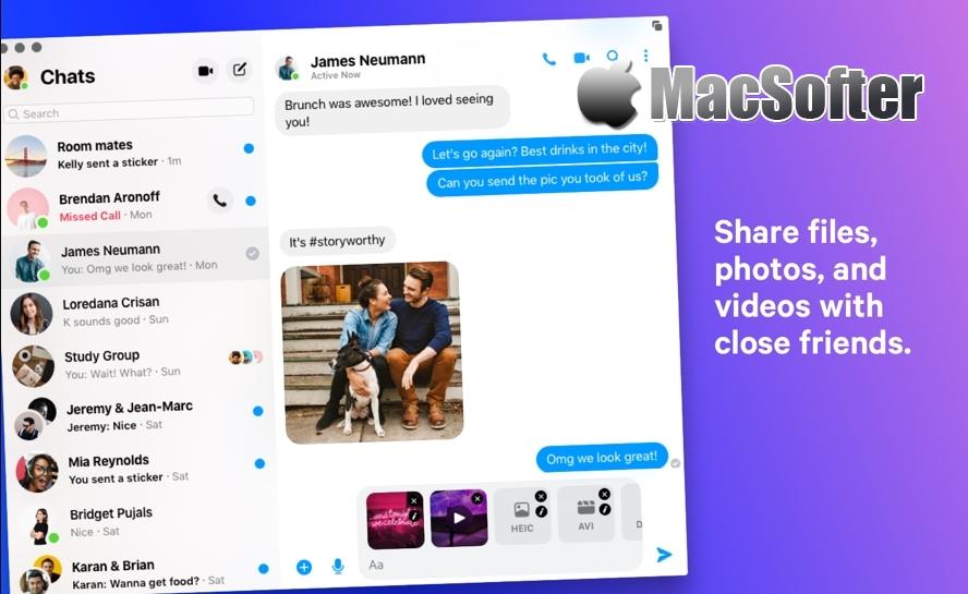 Mac版Facebook Message 正式上架 - 支持Dark Mode无需再用浏览器