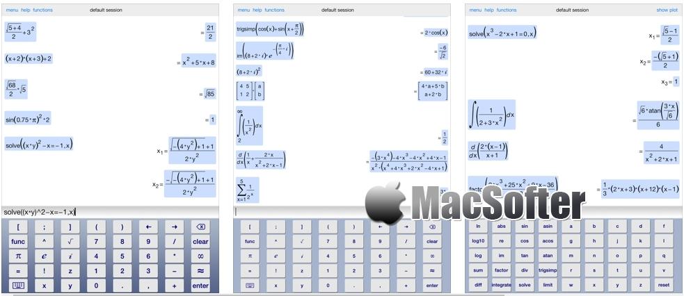 [iPad限免] Symbolic Calculator HD : 强大的科学计算器软件