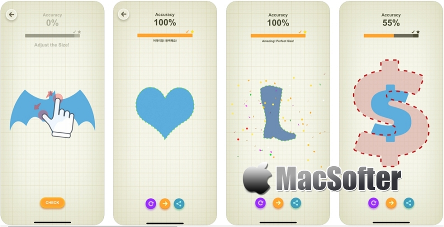 [iPhone/iPad限免] 完美尺寸 Perfect Size! : 视觉记忆测试游戏