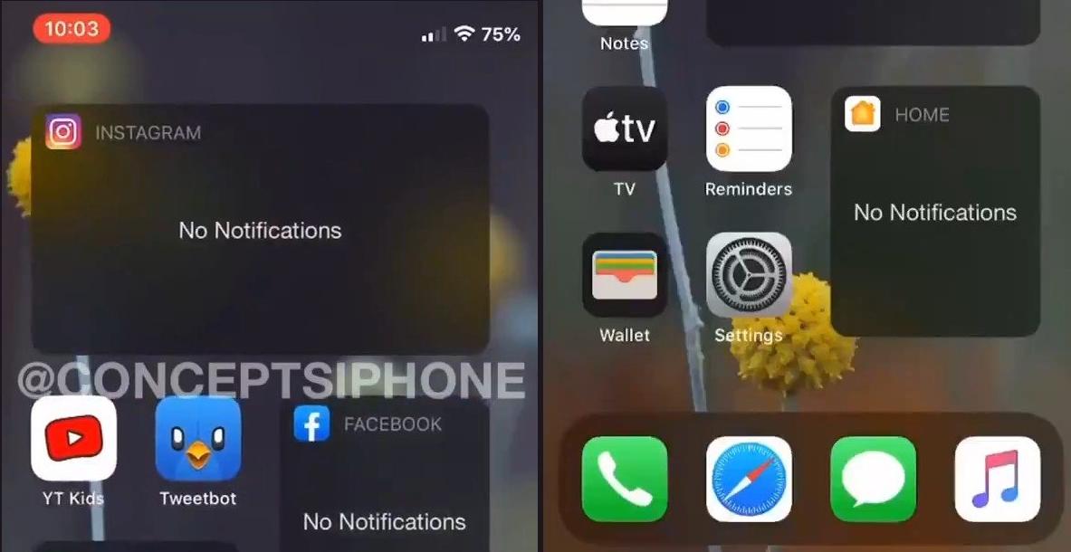 疑似iOS 14主画面小工具运行界面曝光