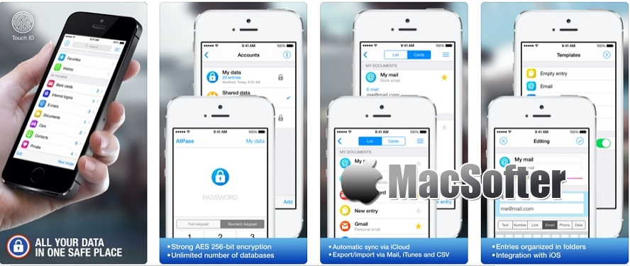 [iPhone/iPad限免] AllPass Pro :密码及帐户管理工具