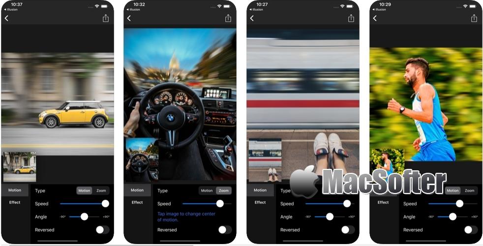 [iPhone限免] Motion Blur :照片动态模糊效果后期制作软件
